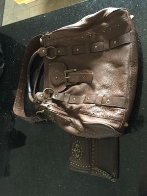 Betsey Johnson XL Brown Leather bag & Wallet ✨ for Sale in Lake in the Hills, IL