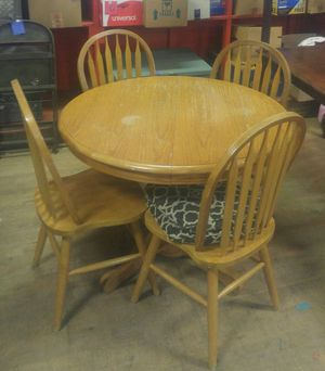 Table with 4 chairs plus leaf for Sale in Hoquiam, WA