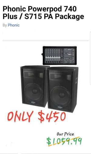 PHONIC Powerpod 740 Plus / S715 PA Package MIXER & SPEAKERS for Sale in Tupelo, MS