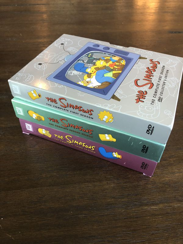 Simpson's DVD Collector's Edition Set - Seasons 1-3 - Very Good Condition