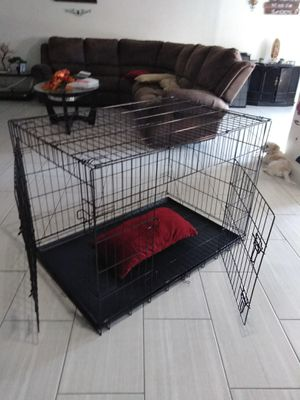 Dog crate Cage kennel xlarge foldable New open box never used only few scratches pick up only 91ave and Thomas Phoenix for Sale in Phoenix, AZ
