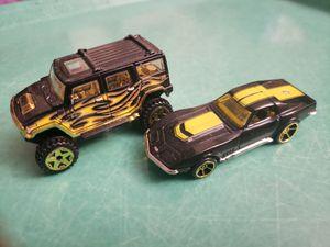 Hot Wheels Hummer & Corvette TM GM Black and Gold Rims for Sale in Hemet, CA