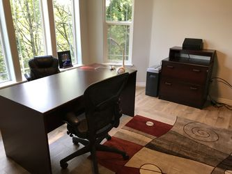 Dania office desk with matching lateral file and regular file cabinet for Sale in Portland,  OR