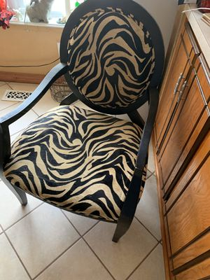 Zebra chair for Sale in Midwest City, OK