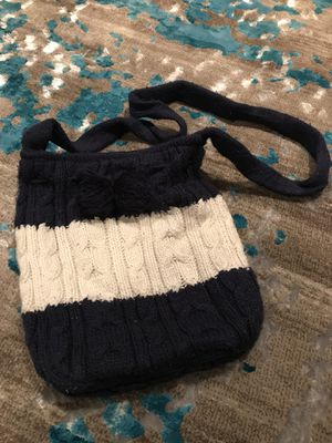 Aeropostale knit cross body bag navy and white for Sale in Alexandria, VA