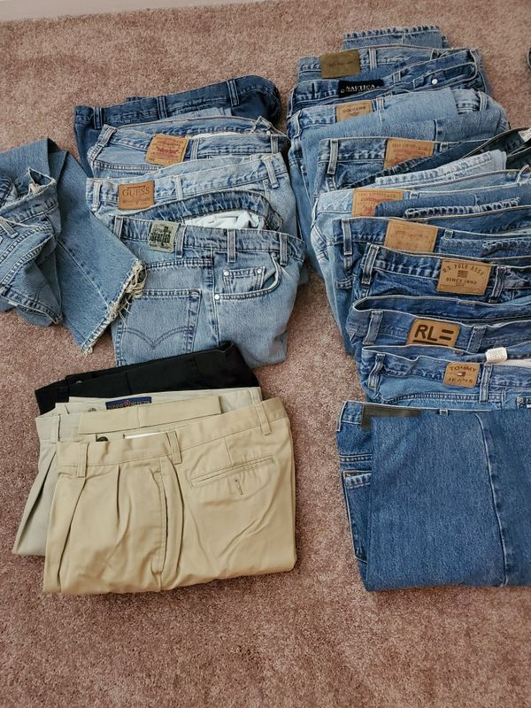 Men's jeans, shorts, slacks