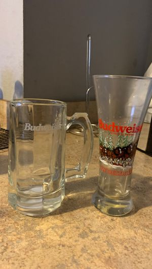 Collectibles Budweiser glasses $5 each or both for $8 for Sale in Riverside, CA