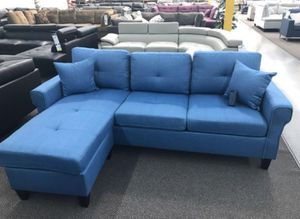 Brand New Blue Linen Sectional Sofa Couch for Sale in Silver Spring, MD