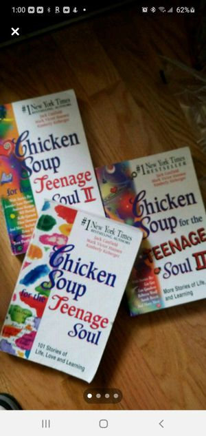Series chicken soup teenage 3 books for Sale in Clearwater, FL
