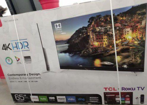 "65"" TCL ROKU TV 4K UHD HDR SMART TV"
