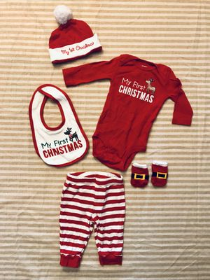 12 Pieces Of Clothes for Baby Boy - Christmas Time - 0/3 Months for Sale in Leesburg, FL