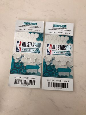 $5000 TICKETS NBA ALLSTAR 2019 for sale best offer for Sale in Charlotte, NC
