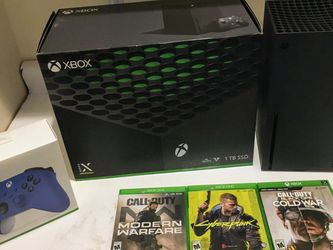 Xbox X With 3 Games for Sale in West Jordan,  UT