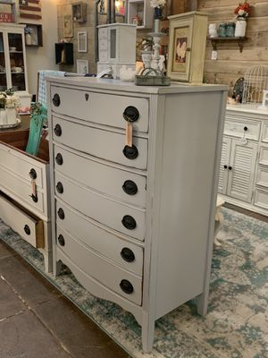 Newly refinished gray vintage farmhouse dresser for Sale in Sumner, WA