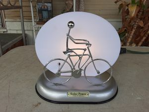 Solar Power Bicycle Rider Sculpture Lamp (COOL) L@@K!!! for Sale in Mesa, AZ