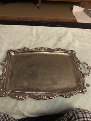 Silver serving tray for Sale in Long Beach, CA