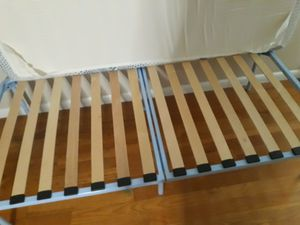 Twin bed with mattress and mattress cover for Sale in East Rutherford, NJ