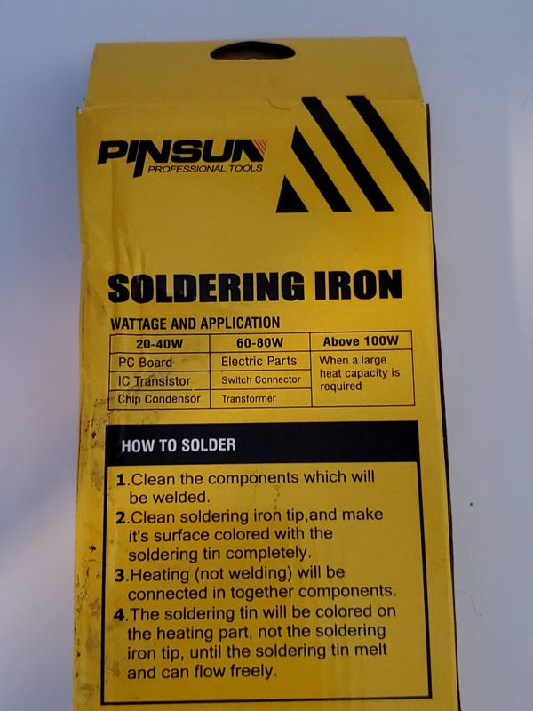 Pinsun 5 Piece Soldering Iron Solder Tool Kit Set