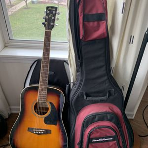 Ibanez Acoustic Guitar, Cover, Stand, And Capo - Barely Used for Sale in Chicago, IL