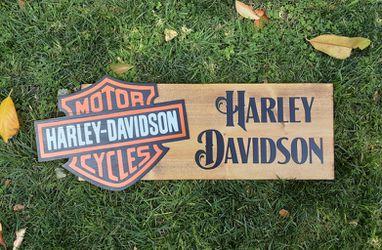 Harley Davidson Wood sign for Sale in Riverside,  CA