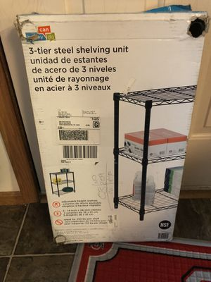 3 tier shelving unit for Sale in Gahanna, OH