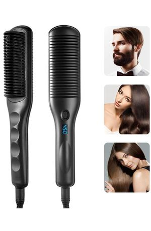 New in box Hair Straightener Brush Ceramic Heating Hair Straightening Comb with Anti-Scald,30S Fast Ceramic Heating,3 Heat Levels,Auto Shut Off,Porta for Sale in Katy, TX