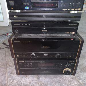 Pioneer elite Amplifier VSX 39-tx / Pioneer In Elite M-72 / Pioneer Elite media Receiver Pro R06U/ Pioneer Elite DVD Player DV-47Ai/ ELAN Seres Fan2 for Sale in Ontario, CA