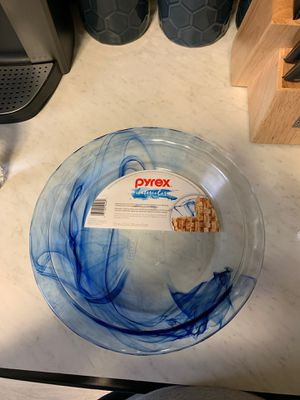 Pyrex watercolor pie dish for Sale in Philadelphia, PA