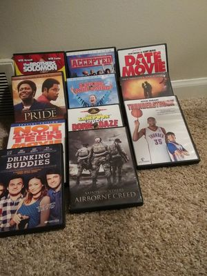 Lot of DVD movies like new for Sale in Kendallville, IN