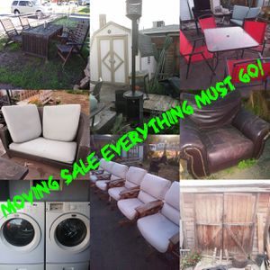 Moving sale tuff sheds outdoor dining sets patio furniture for Sale in El Cajon, CA