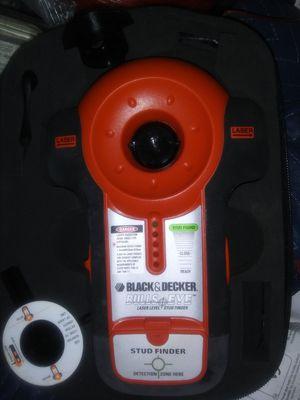 Black & Decker Lazer Level & stud finder with case for Sale in Scott Depot, WV