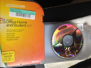 Microsoft office 2007 license with CD for Sale in Los Angeles, CA