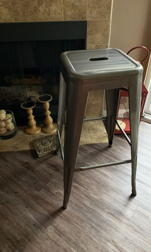 Target Gun metal bar stools// polished West Hollywood for Sale in West Hollywood, CA
