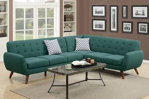 Teal sectional 🎈🎈🎈 for Sale in Fresno, CA