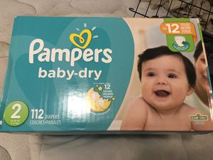 Pampers Diapers Size 2 box of 112 for Sale in Austin, TX