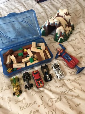 FREE kids toys with ANY purchase!! Cars, train tunnel, building toys, super man, hot wheels for Sale in Elma, WA
