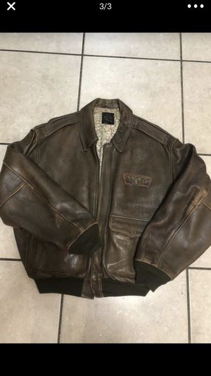 Leather jacket size L . Vintage!! One of a kind for Sale in Miami, FL