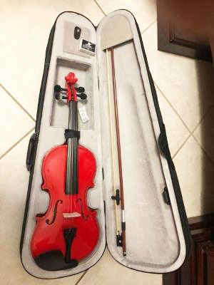 Red Full Size 4/4 Violin with case , Bow, rosin for Sale in Davie, FL