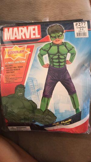 Hulk Halloween costume - toddler age 3-4 for Sale in Springfield, VA