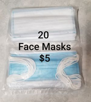 NEW Disposable Face Masks (2 packs of 10ea) for Sale in Portland, OR