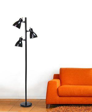 Simple Designs Metal 3-Light Tree Floor Lamp, Black Finish for Sale in Houston, TX