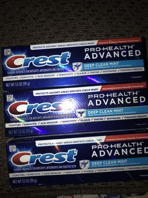 Crest Pro health advanced deep clean mint for Sale in Stockton, CA