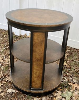 Wood 3 Tier Round Accent End Console Table Rack Stand for Sale in Chapel Hill, NC