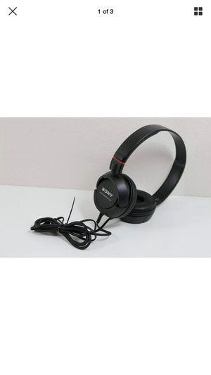 Sony Headphones Headband MDR-ZX100 Black for Sale in Olympia, WA