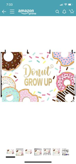 Donut grow up backdrop and garland for Sale in Tampa, FL