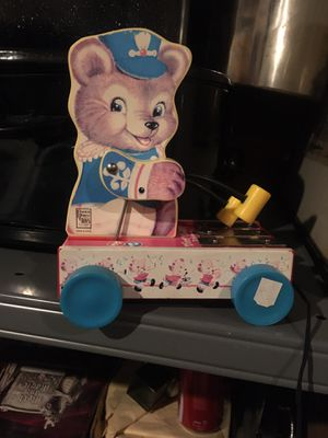 Vintage tiny teddy pull toy for Sale in Rhinebeck, NY