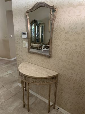 Entry way table with mirror for Sale in Palm Harbor, FL