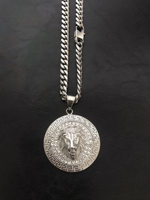 Stainless steel lion pendant with chain(width 8 mm) for Sale in Philadelphia, PA