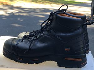 TIMBERLAND STEEL TOE WATERPROOF MEMBRANE Men's Black Leather work Boots Size 13 for Sale in Kent, WA