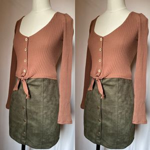 Olive suede skirt for Sale in Fresno, CA
